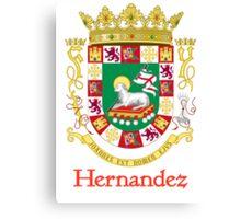 Hernandez Shield of Puerto Rico Canvas Print
