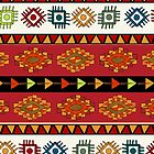 Abstract Ethnic pattern in vivid colors. by Richard Laschon