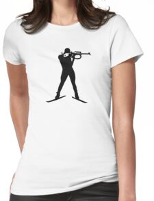 Biathlon winter sports Womens Fitted T-Shirt