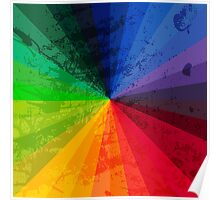 Rainbow Graphic Design Color Wheel Poster