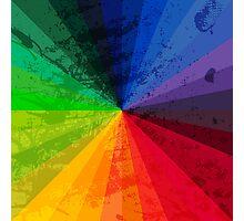 Rainbow Graphic Design Color Wheel Photographic Print