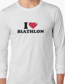I love Biathlon snow Long Sleeve T-Shirt