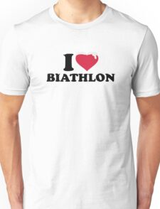 I love Biathlon snow Unisex T-Shirt