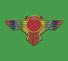 Winged Globe, Symbol of the perfected soul, Egyptian Sun Disc  Kids Clothes