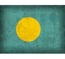 Palau Flag Photographic Print