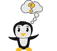 Thought bubble question mark sweet Penguin child by Style-O-Mat