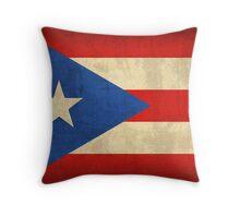 Puerto Rico Flag Throw Pillow