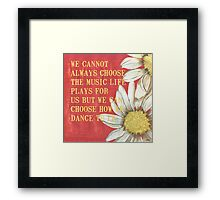 Dictionary Floral 1 Framed Print