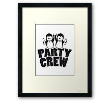 Drunk drinking party crew team 2 penguins Framed Print