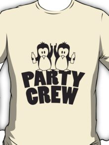 Drunk drinking party crew team 2 penguins T-Shirt