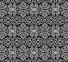 Black and white fantasy seamless pattern background by amovitania