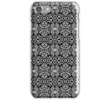 Black and white fantasy seamless pattern background iPhone Case/Skin