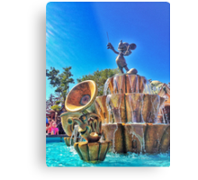 Mickey's Fountain Metal Print
