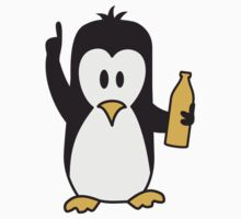 Drunk drinking beer party Penguin T-Shirt