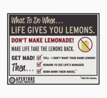 Portal- When Life Gives You Lemons (Sticker Version!) by ----User