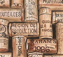 Vintage French Wine Corks by Debbie DeWitt