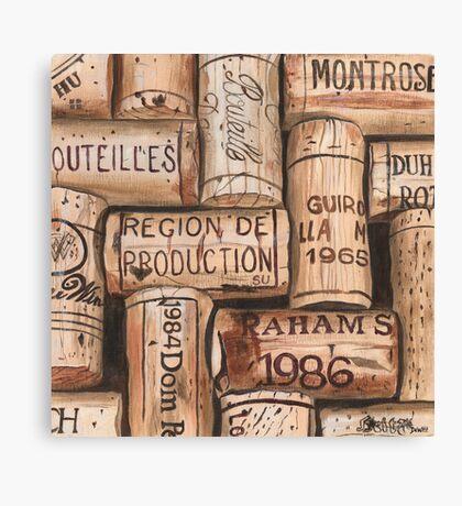 Vintage French Wine Corks Canvas Print