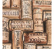 Vintage French Wine Corks Photographic Print