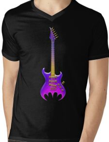Gothic Guitar Mens V-Neck T-Shirt