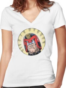 Dredd Women's Fitted V-Neck T-Shirt