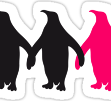 Be different penguins pattern fun Sticker