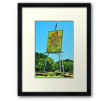 The Big Easel and Painting Framed Print