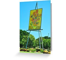 The Big Easel and Painting Greeting Card