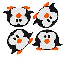 4 sweet cute little Penguin babies children by Style-O-Mat