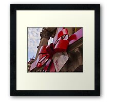 Christmas bow at Melbourne Town Hall Framed Print