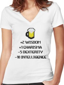 Drink for initiative Women's Fitted V-Neck T-Shirt