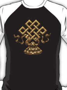 Tibet Endless Knot, Lotus Flower, Buddhism, Eternal Knot T-Shirt