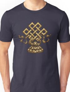 Tibet Endless Knot, Lotus Flower, Buddhism, Eternal Knot Unisex T-Shirt