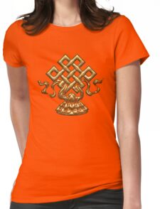 Tibet Endless Knot, Lotus Flower, Buddhism, Eternal Knot Womens Fitted T-Shirt