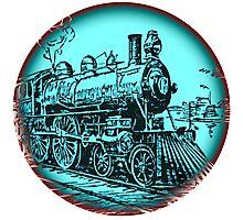 train round Photographic Print
