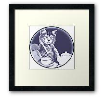 Kitten Tea Time Framed Print