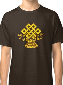 Tibetan Endless Knot, Lotus Flower, Buddhism Classic T-Shirt