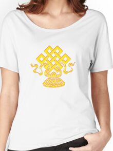 Tibetan Endless Knot, Lotus Flower, Buddhism Women's Relaxed Fit T-Shirt