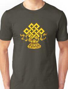 Tibetan Endless Knot, Lotus Flower, Buddhism Unisex T-Shirt