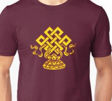 Tibetan Endless Knot, Lotus Flower, Buddhism Unisex T-Shirt