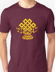 Tibetan Endless Knot, Lotus Flower, Buddhism T-Shirt