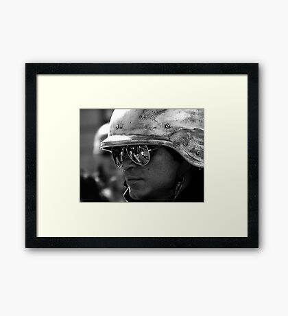Reflecting the People Framed Print