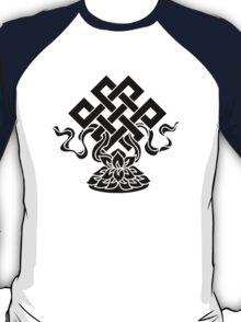 Eternal Knot, Lotus Flower, Buddhism, Lucky Charm T-Shirt