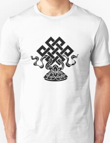 Eternal Knot, Lotus Flower, Buddhism, Lucky Charm T-Shirt