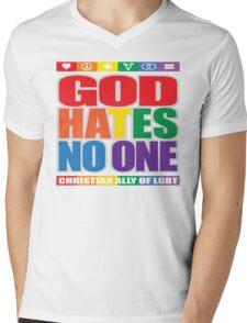 God Hates No One Mens V-Neck T-Shirt