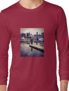 Boats at Melbourne Docklands Long Sleeve T-Shirt
