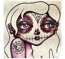 Sugar Skull Girl Poster
