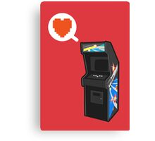 I HEART ARCADE Canvas Print
