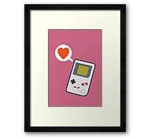 I HEART GAMEBOY Framed Print