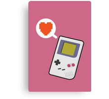 I HEART GAMEBOY Canvas Print