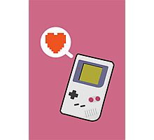 I HEART GAMEBOY Photographic Print